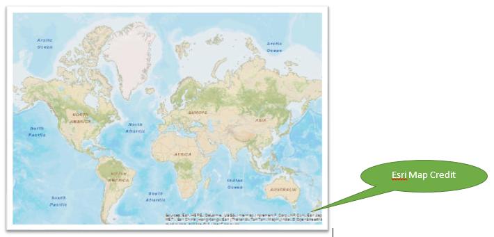 ESRI Basemap Credit