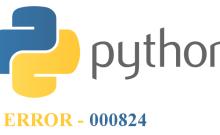Python error 000824
