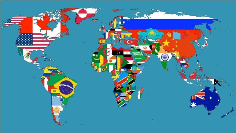 National Flag World Map