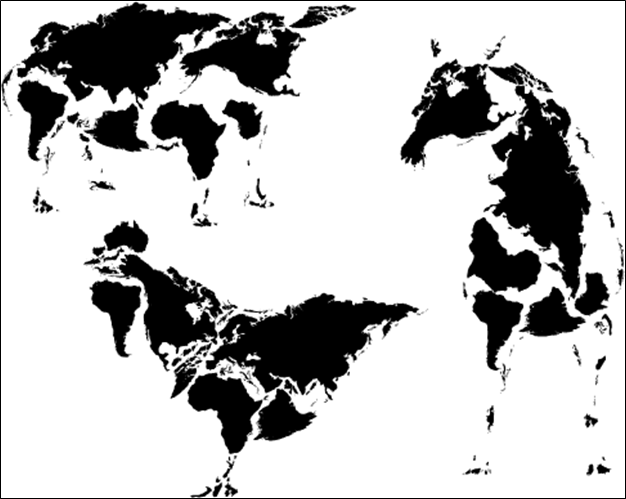 Three Animal Make World Map