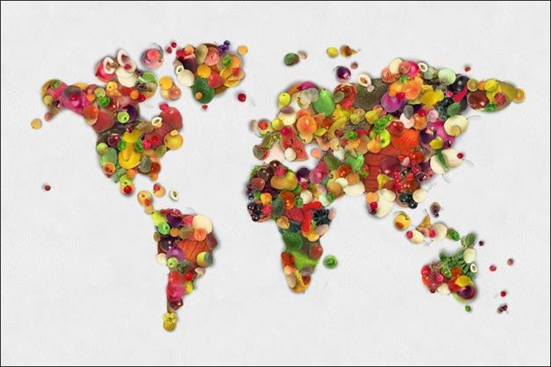Fruits World Map