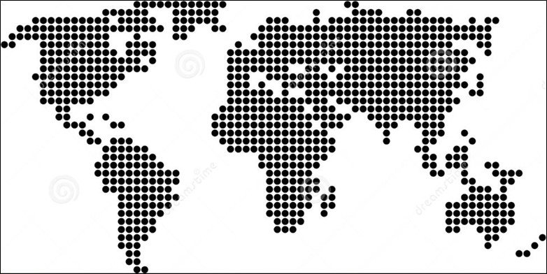Dot Matrix World Map