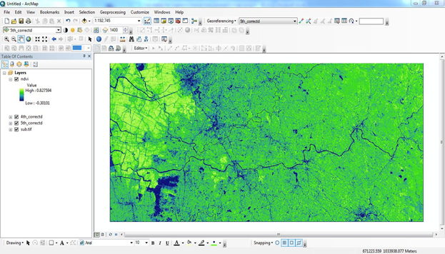 Normalized Differential Vegetation Index