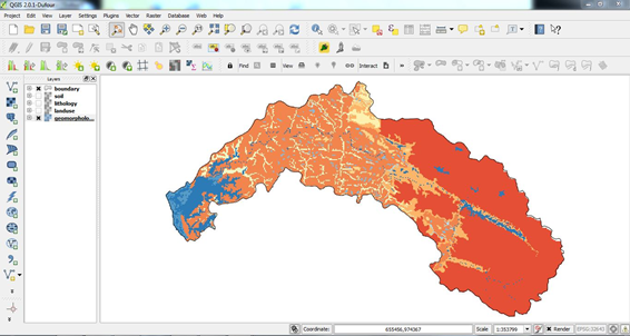 Geomorphology raster is created