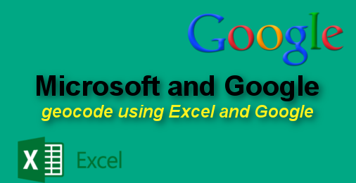 google and excel
