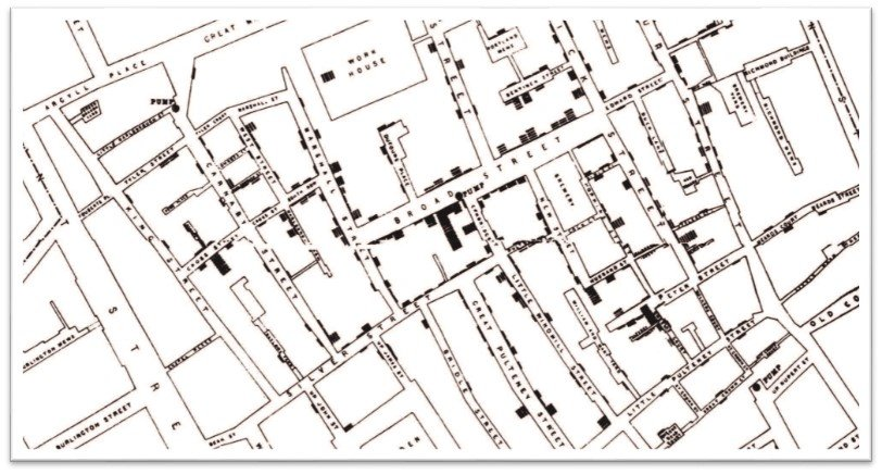 John Snow Cholera Outbreak Map