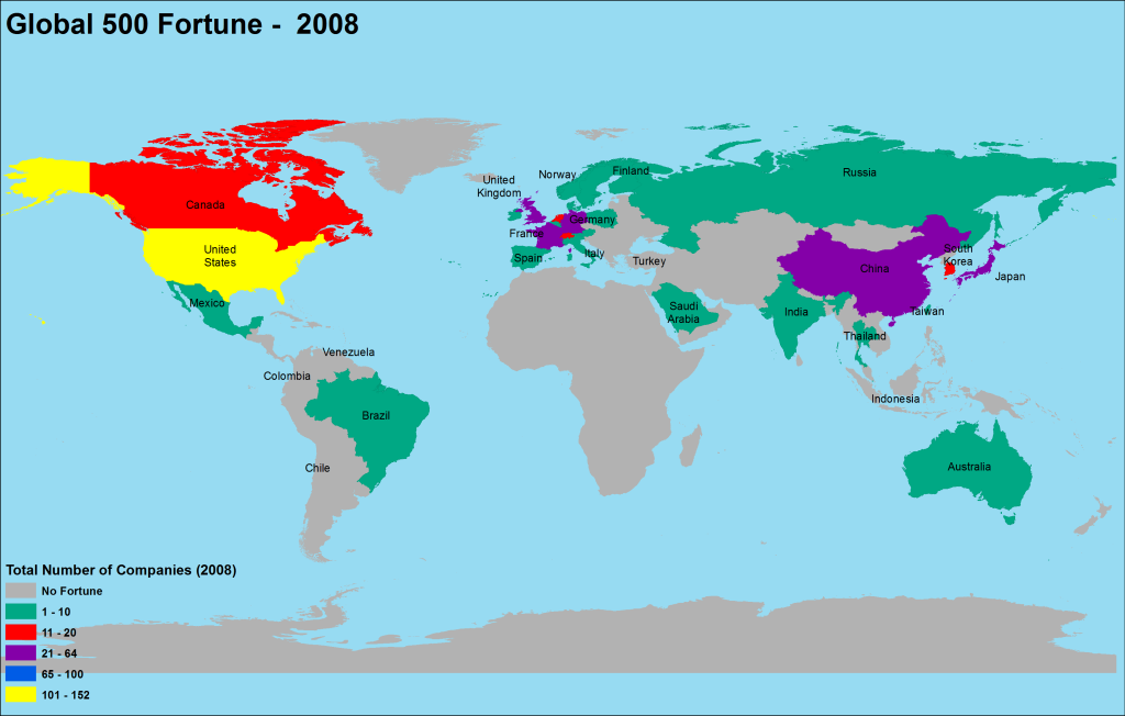 2008 Global Fortune Map