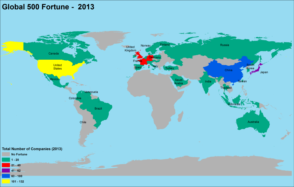 2013 Global Fortune Map