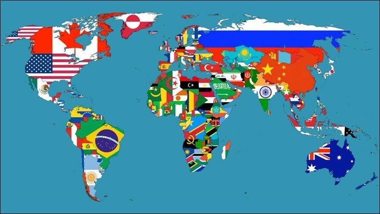 National Flag World Map