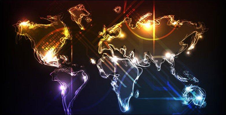 Flashing World Map