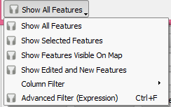 Attribute table option