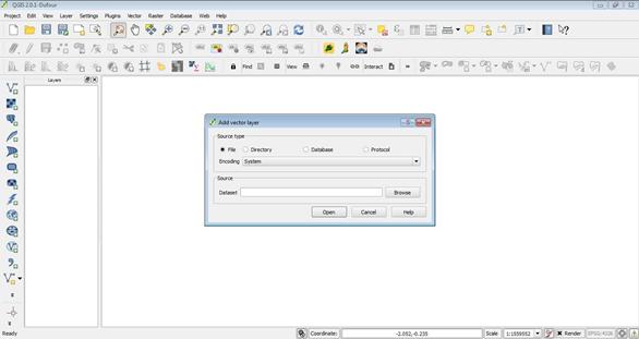 Adding vector file to QGIS