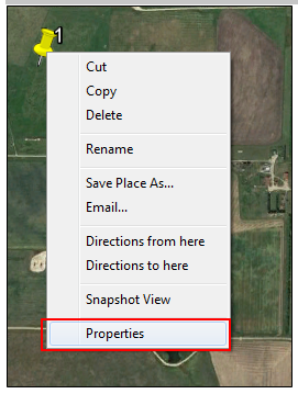 google earth image properties