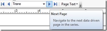 Data Driven Pages Setup Next Button