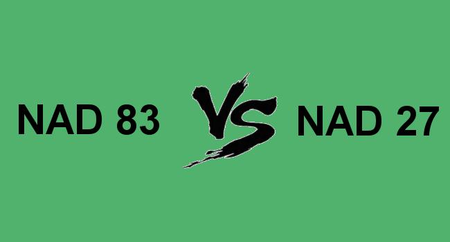 NAD 83 vs NAD 27