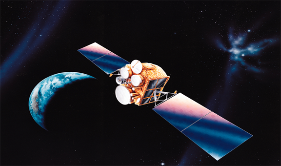 Application of GPS in satellite communication