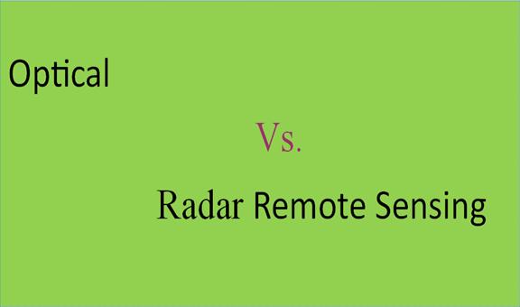 Differences between optical and radar remote sensing