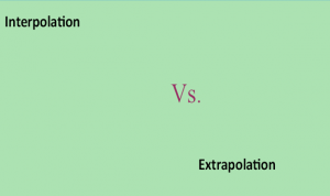 Difference between interpolation and Extrapolation