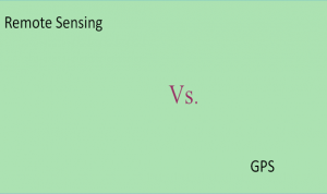 Differences between Remote sensing and GPS